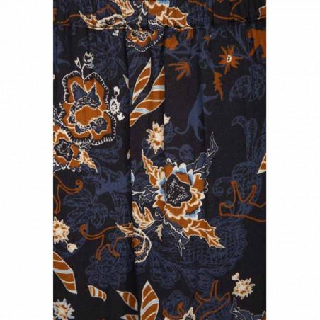 Minus Nederdel, Birla, Dark Floral Print - Detalje