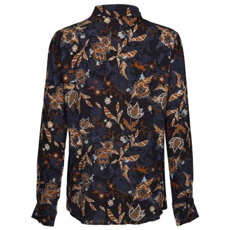 Minus Skjorte, Birla, Dark Floral Print - Bagside