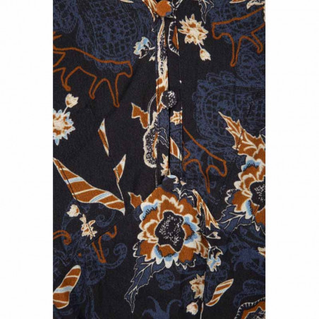 Minus Kjole, Birla, Dark Floral Print - Print