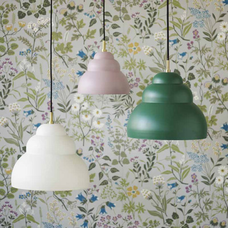 Superliving Lampe, Bubble Pendant Dark Green, Rose, Whisper White