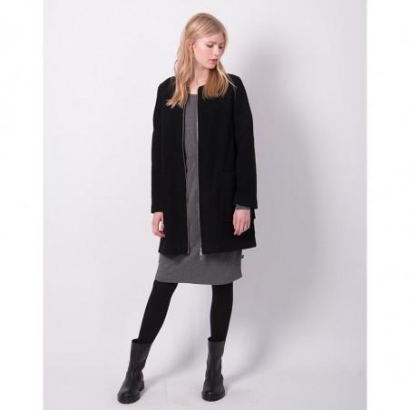 Danefæ Jakke, Wool Darling, Black model front