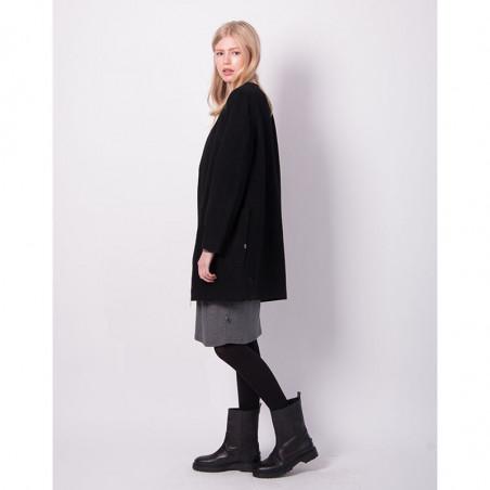 Danefæ Jakke, Wool Darling, Black model side