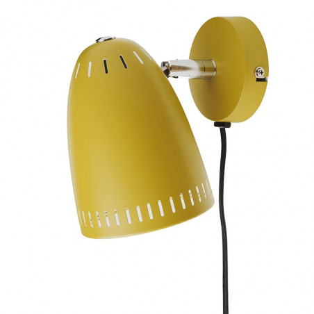 Superliving Væglampe, Dynamo Short, Mat Mustard