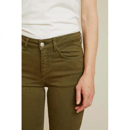 Basic Apparel Jeans, Eve, Army front detalje