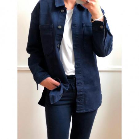 Basic Apparel Jeans, Etta, Dark Navy model