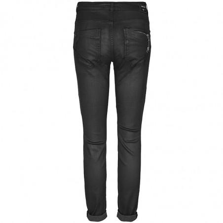 Mos Mosh Jeans, Ozzy Coated, Dark Grey - Bagside