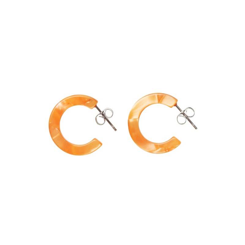 aym – Aym øreringe, anais mini hoop, ventura orange fra superlove