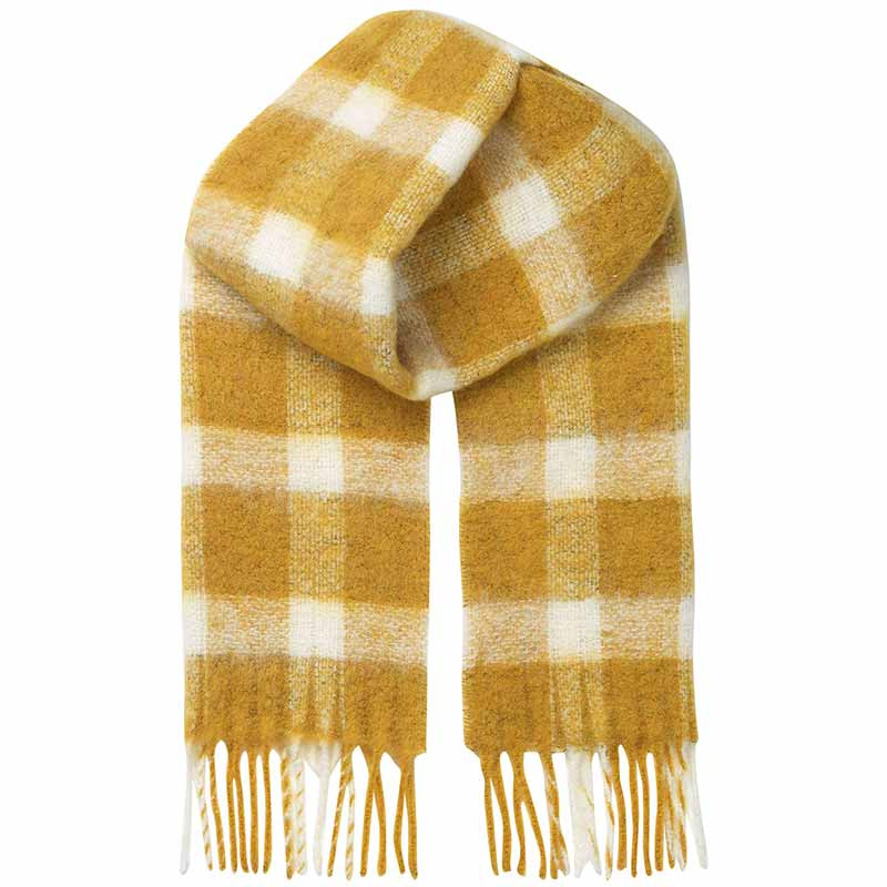 Beck søndergaard tørklæde, isobell, golden yellow fra beck søndergaard på superlove