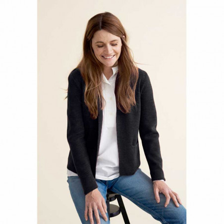 Sibin Linnebjerg Cardigan, Sense, Black model