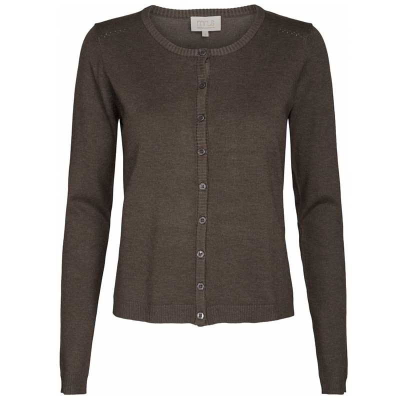 Minus Cardigan, New Laura, Black Coffee Melange