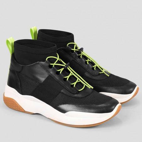 Vagabond Sneakers, Lexy, Black/Neon - Fra siden