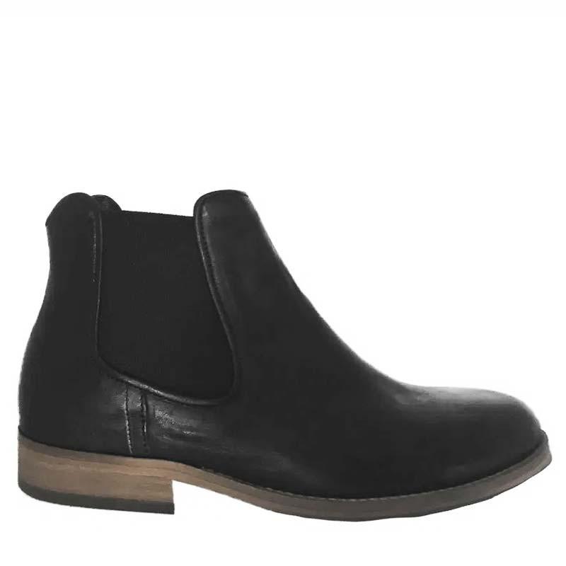 Mentor Støvler, Chelsea, Black Leather
