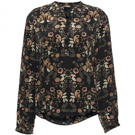PBO Bluse, Battu, Paisly Black, PBO top, PBO skjorte