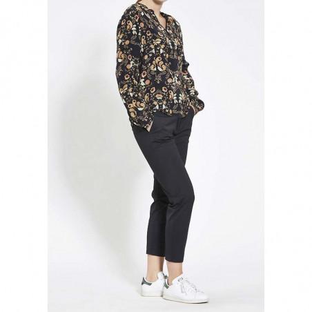 PBO Bluse, Battu, Paisly Black, PBO top, PBO skjorte model