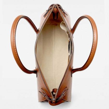 Decadent Taske, Scarlet Small Shopper, Cognac, Decadent Copenhagen, decadent small shopper åben