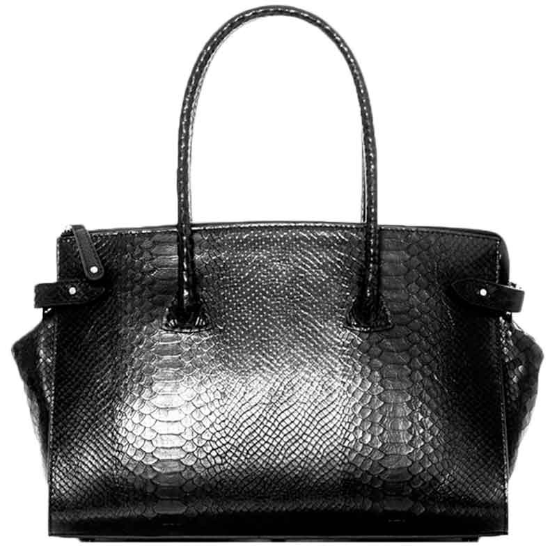 Image of   Decadent Taske, Scarlet Small Shopper, Anaconda Black