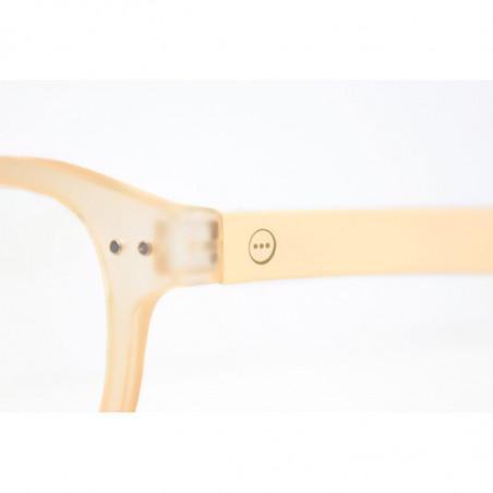 Izipizi Briller, D Reading, Neutral Beige, Izipizi læsebriller detalje