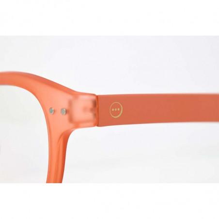 Izipizi Briller, D Reading, Warm Orange, Izipizi læsebriller detalje