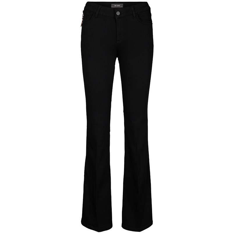 Mos Mosh Jeans, Victoria Silk flare, Black, Mos Mosh bukser
