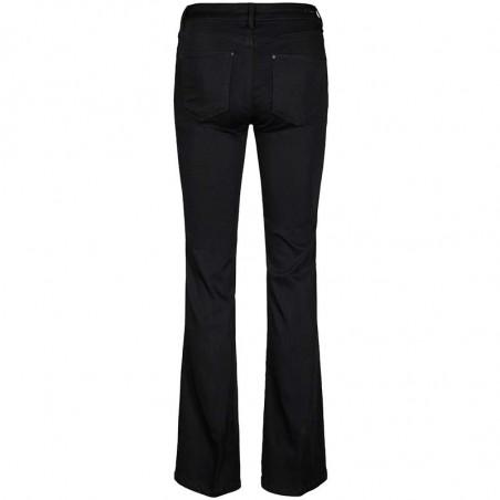 Mos Mosh Jeans, Victoria Silk flare, Black, Mos Mosh bukser bagside