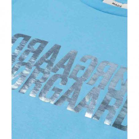 Mads Nørgaard T-shirt dame, Trenda, Light Blue, Mads Nørgaard T shirt dame detalje
