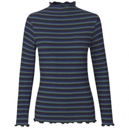 Mads Nørgaard Bluse, Trutte, Navy Multi, mads nørgaard langærmet t-shirt, mads nørgaard t-shirt dame, mads nørgaard t shirt dame