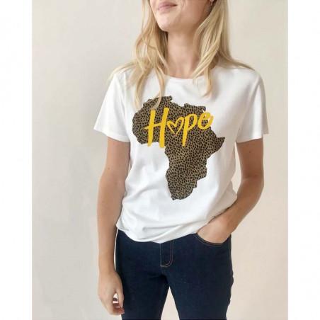 Modström T-shirt, Tippi Charitee, White, Modström T shirt, Modstrøm T-shirt, Modström charitee model