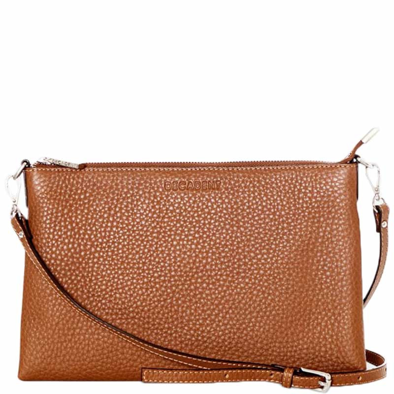 Image of   Decadent Taske, Jayla Small Flat Cross Body, Cognac