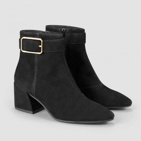 Vagabond Støvler dame, Olivia, Black Suede, vagabond olivia, vagabond damesko side
