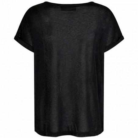 Mos Mosh T-shirt, Kay, Black, detalje, T-shirt dame