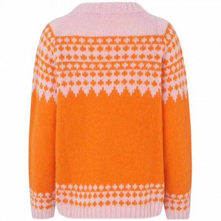 Mads Nørgaard Strik dame, Kanona, Orange/Pink mads nørgaard trøje bagside