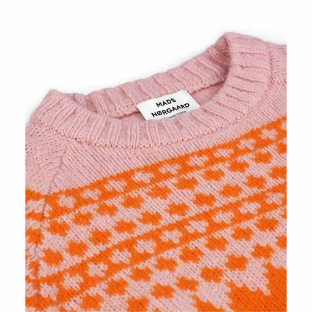 Mads Nørgaard Strik dame, Kanona, Orange/Pink mads nørgaard trøje detalje