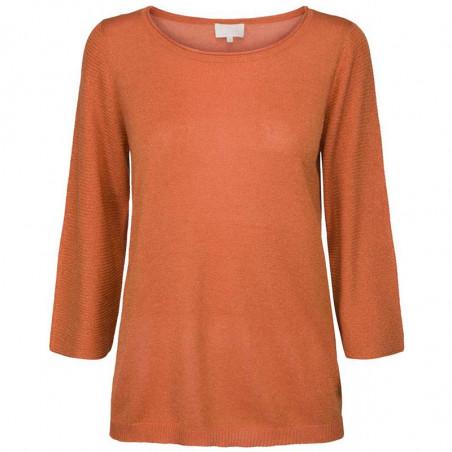 Minus Bluse, Irene, Pumpkin Orange Lurex minus top minus strik