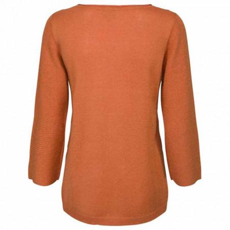 Minus Bluse, Irene, Pumpkin Orange Lurex minus top minus strik bagside
