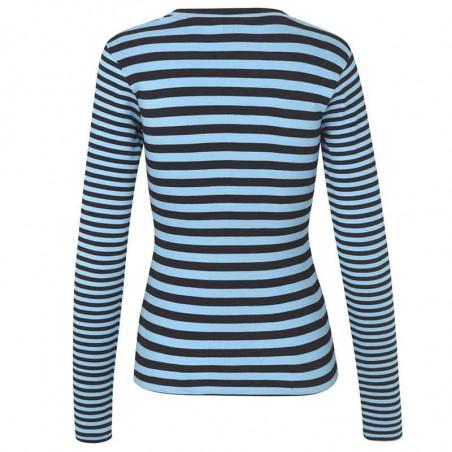 Mads Nørgaard T-shirt, Tuba Combi, Black/Clear Sky, Mads Nørgaard Kvinder