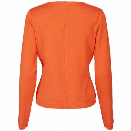 Minus Cardigan New Laura, Pumpkin Orange minus laura cardigan bagside