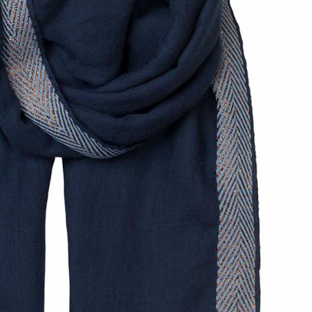Beck Søndergaard Tørklæde uld, Bjana, Classic Navy detalje