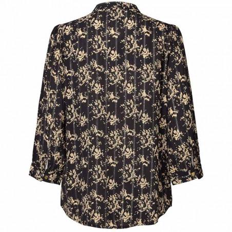 Lollys Laundry Skjorte, Amalie, Black Lollys Laundry bluse bagside