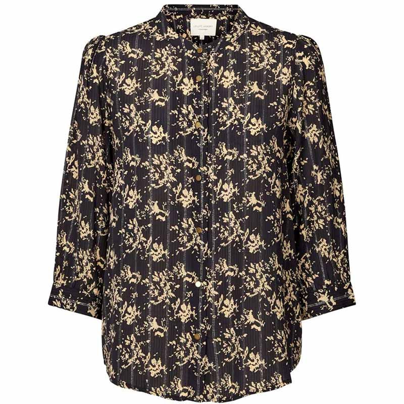 Lollys Laundry Skjorte, Amalie, Black Lollys Laundry bluse