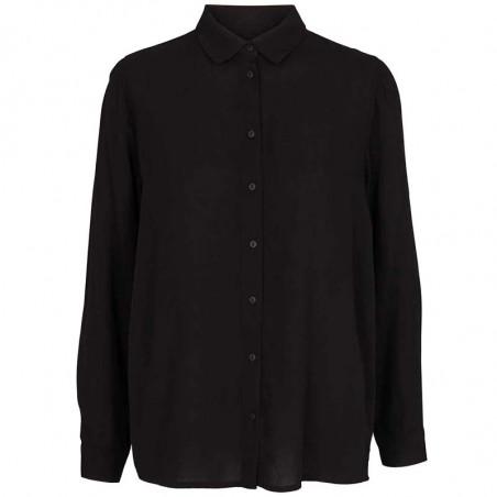 Basic Apparel skjorte, Alanis, black, Basic Apparel skjorte, Alanis, sort, sort skjorte dame