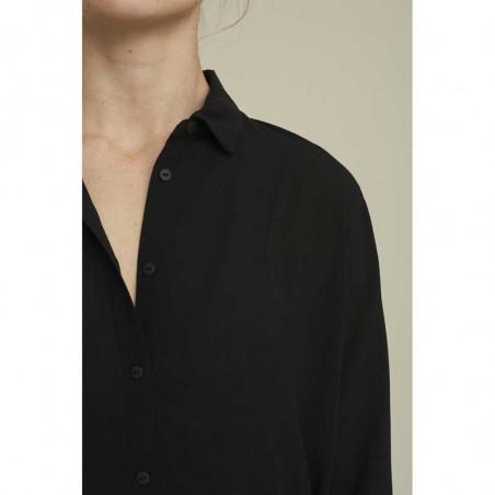 Basic Apparel skjorte, Alanis, black, krave, Basic Apparel skjorte, Alanis, sort, krave, sort skjorte dame