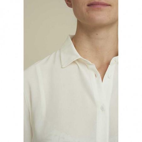 Basic Apparel skjorte, Alanis, eggnog, krave, Basic Apparel skjorte, Alanis, creme, krave