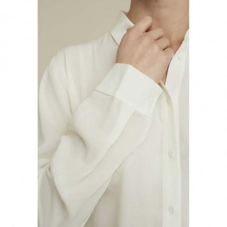 Basic Apparel skjorte, Alanis, eggnog, ærme, Basic Apparel skjorte, Alanis, creme, ærme