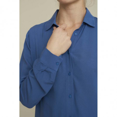 Basic Apparel skjorte, Alanis, moonlight blue, ærme, Basic Apparel skjorte, Alanis, blå, ærme, blå skjorte dame