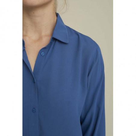 Basic Apparel skjorte, Alanis, moonlight blue, krave, Basic Apparel skjorte, Alanis, blå, krave, blå skjorte dame