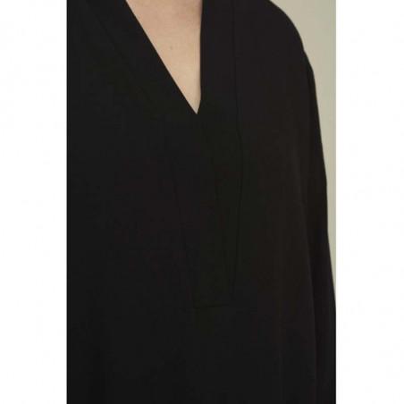 Basic Apparel kjole, Alanis, Black, Basic Apparel kjole, Alanis, sort, detalje, sort tunika