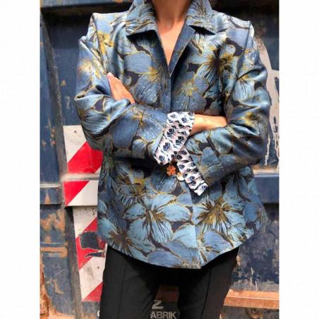 Six Ames Blazer, Lainey, Autumn Flowers - Mønstret jakke