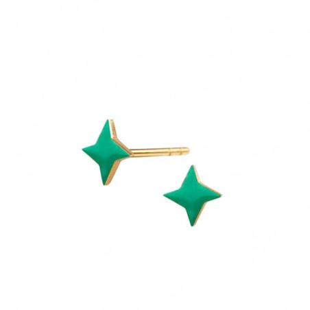 Scherning øreringe, Stella ørestikker, Gold/Jade, danske smykker, grønne øreringe, Scherning ørestikker