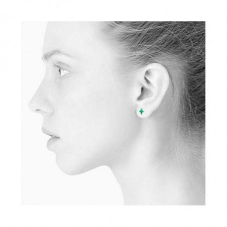 Scherning øreringe, Stella ørestikker, Gold/Jade, look, danske smykker, grønne øreringe, Scherning ørestikker