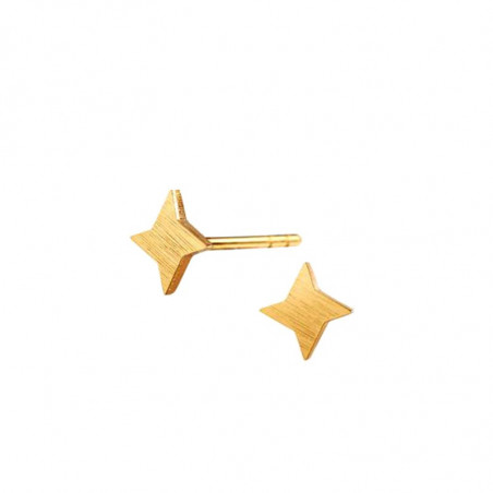 Scherning øreringe, Stella ørestikker, gold, danske smykker, Scherning ørestikker, ørestikker stjerne